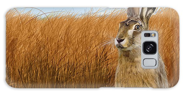 Hare In Grasslands Galaxy Case