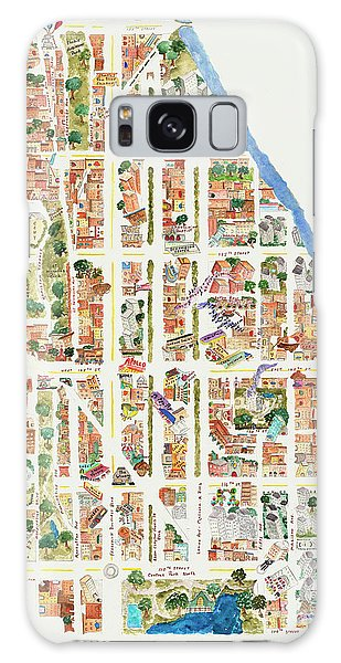Harlem Galaxy S8 Case - Harlem From 106-155th Streets by Afinelyne
