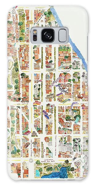 Harlem From 110-155th Streets Galaxy Case by Afinelyne