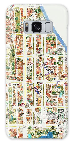 Harlem Map From 106-155th Streets Galaxy Case