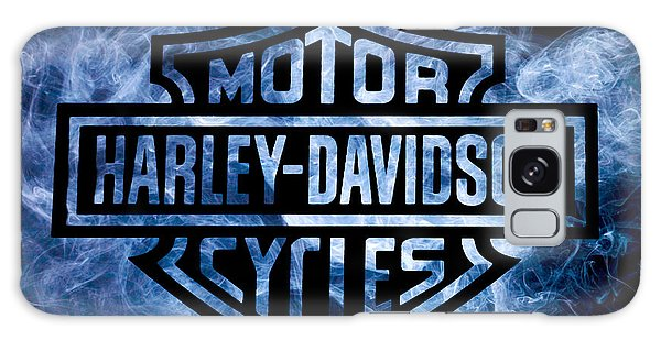 Harley Davidson Logo Blue Galaxy Case