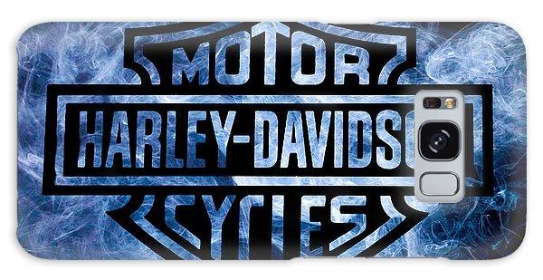 Harley Davidson Logo Blue Galaxy Case by Randy Steele