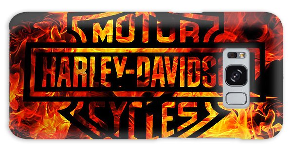 Motor Galaxy Case - Harley Davidson Logo Flames by Randy Steele