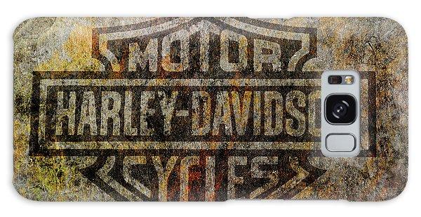 Harley Davidson Logo Grunge Metal Galaxy Case by Randy Steele