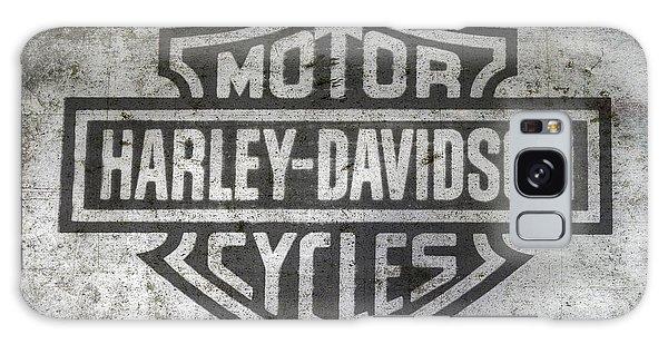 Motor Galaxy Case - Harley Davidson Logo On Metal by Randy Steele