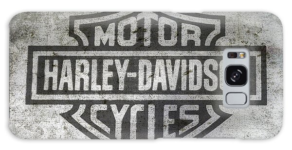 Harley Davidson Logo On Metal Galaxy Case