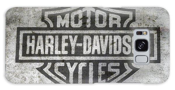 Harley Davidson Logo On Metal Galaxy Case by Randy Steele