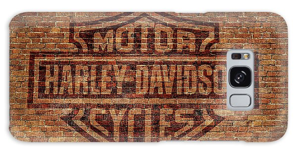 Harley Davidson Logo Red Brick Wall Galaxy Case