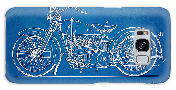 Harley-davidson Motorcycle 1928 Patent Artwork Galaxy Case by Nikki Marie Smith