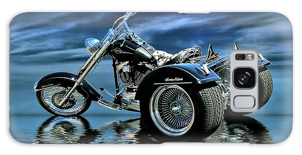Harley Heritage Soft Tail Trike Galaxy Case by Steven Agius