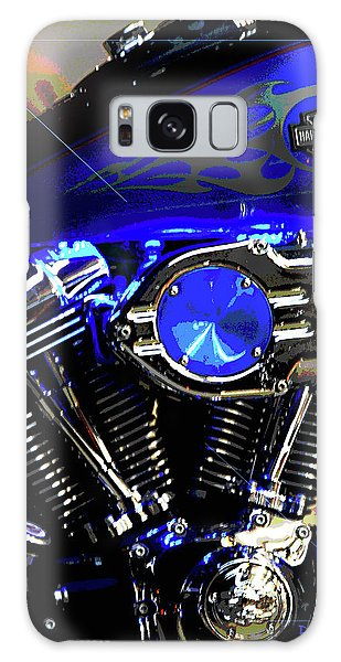 Harleys Twins Galaxy Case by DigiArt Diaries by Vicky B Fuller