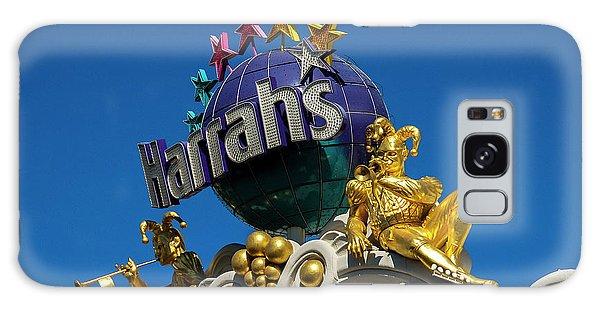 Harrah's Casino Sign On The Las Vegas Strip Galaxy Case