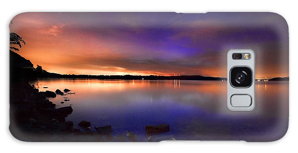 Harrison Bay At Night Galaxy Case