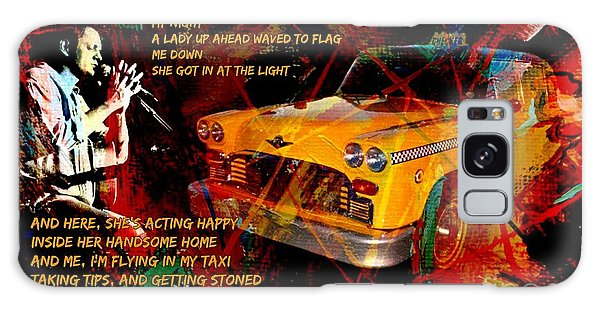 Folk Singer Galaxy Case - Harry Chapin Taxi Song Poster With Lyrics by John Malone