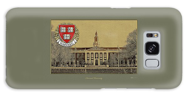 Harvard University Building Overlaid With 3d Coat Of Arms Galaxy Case