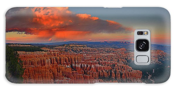 Harvest Moon Over Bryce National Park Galaxy Case