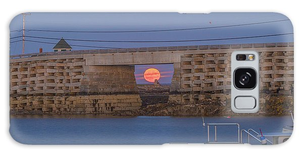 Harvest Moon Over Harpswell Galaxy Case
