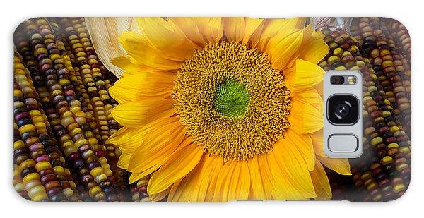 Indian Corn Galaxy Case - Harvest Sunflower by Garry Gay