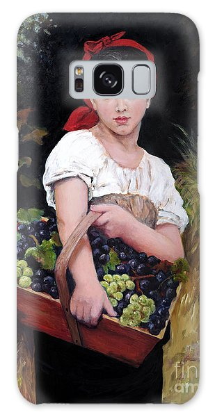 Harvesting The Grapes Galaxy Case by Sandra Nardone