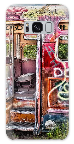Galaxy Case featuring the photograph Haunted Graffiti Art Bus by Susan Candelario