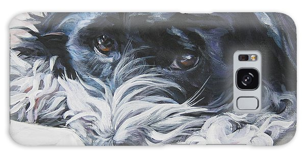Havanese Black And White Galaxy Case