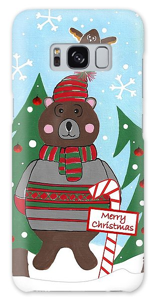 Scarf Galaxy Case - Have A Beary Nice Christmas by Kathleen Sartoris