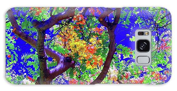 Hawaii Shower Tree Flowers Galaxy Case