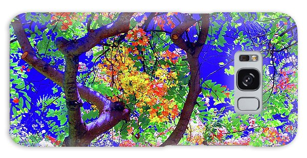 Hawaii Shower Tree Flowers In Abstract Galaxy Case