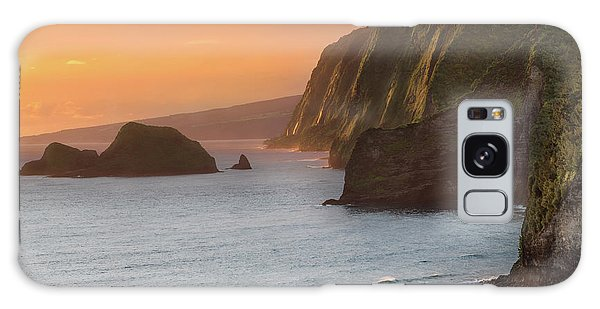 Pacific Ocean Galaxy Case - Hawaii Sunrise At The Pololu Valley Lookout 2 by Larry Marshall