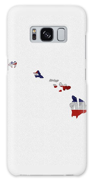 Galaxy Case featuring the painting Hawaii Typographic Map Flag by Inspirowl Design