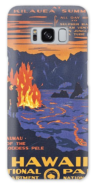 Hawaii Vintage Travel Poster Galaxy Case by Georgia Fowler