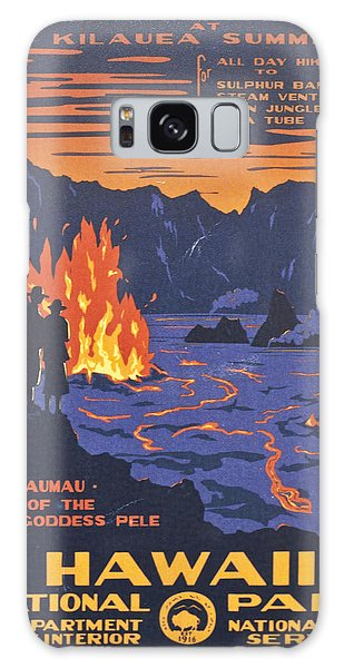 Pele Galaxy Case - Hawaii Vintage Travel Poster by Georgia Fowler