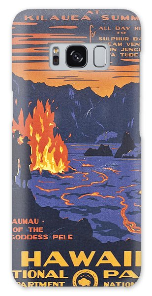 Hawaii Vintage Travel Poster Galaxy Case