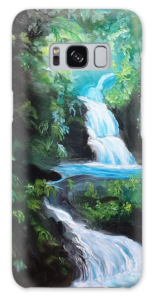 Hawaiian Waterfalls Galaxy Case by Jenny Lee