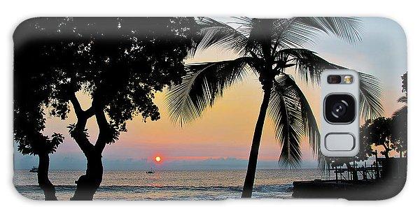Hawaiian Big Island Sunset  Kailua Kona  Big Island  Hawaii Galaxy Case