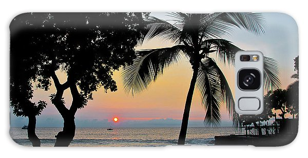 Hawaiian Big Island Sunset  Kailua Kona  Big Island  Hawaii Galaxy Case
