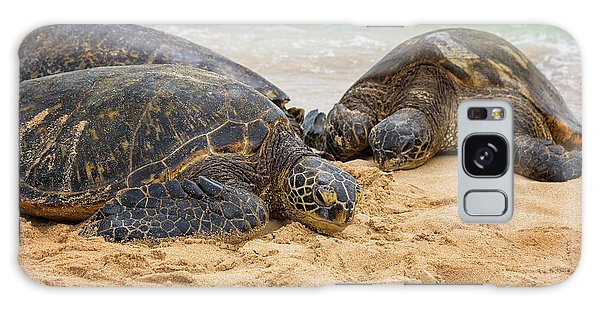 Hawaiian Green Sea Turtles 1 - Oahu Hawaii Galaxy Case