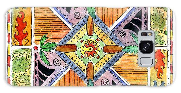 Hawaiian Mandala I - Palm Trees Galaxy Case