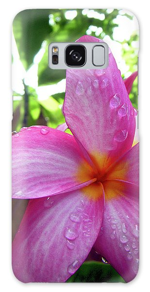 Hawaiian Plumeria Galaxy Case