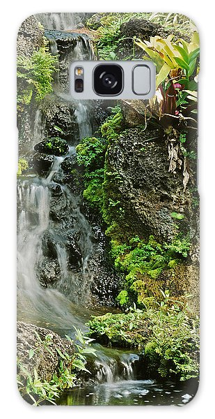 Hawaiian Waterfall Galaxy Case by Michael Peychich