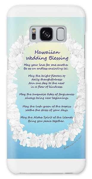 Hawaiian Wedding Blessing Galaxy Case