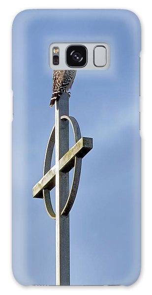 Hawk On Steeple Galaxy Case by Richard Rizzo