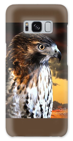 Hawk Sunset Galaxy Case by Adam Olsen
