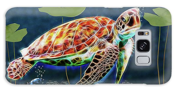 Hawksbill Sea Turtle Galaxy Case