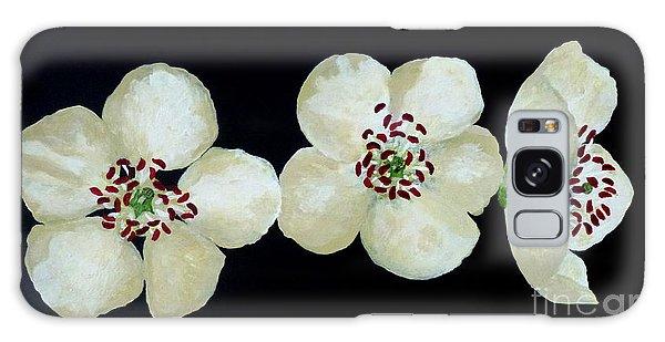 Hawthorn Flowers Galaxy Case by Barbara Moignard