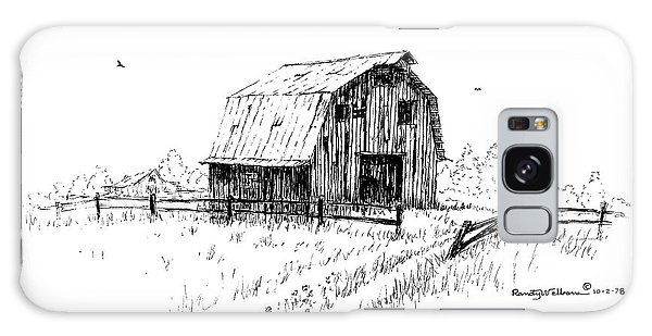 Hay Barn With Broken Gate Galaxy Case