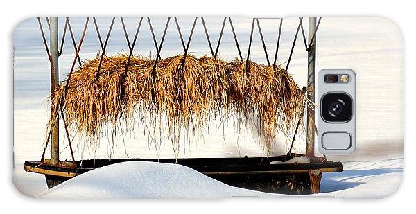 Hay Feeder In Winter Galaxy Case