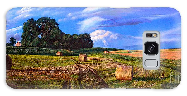 Hay Rolls On The Farm By Christopher Shellhammer Galaxy Case