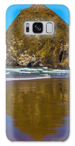 Sea Stacks Galaxy Case - Hay Stack Rock by Garry Gay