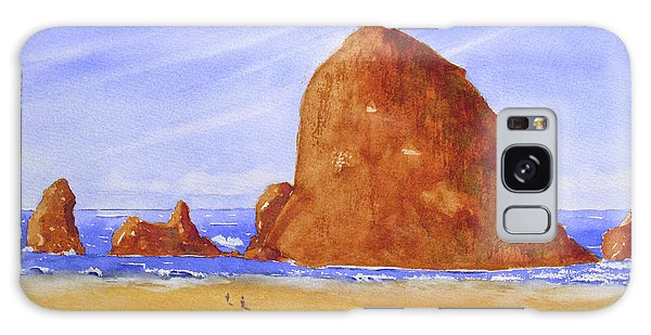 Galaxy Case featuring the tapestry - textile Hay Stack Rock by Rich Stedman